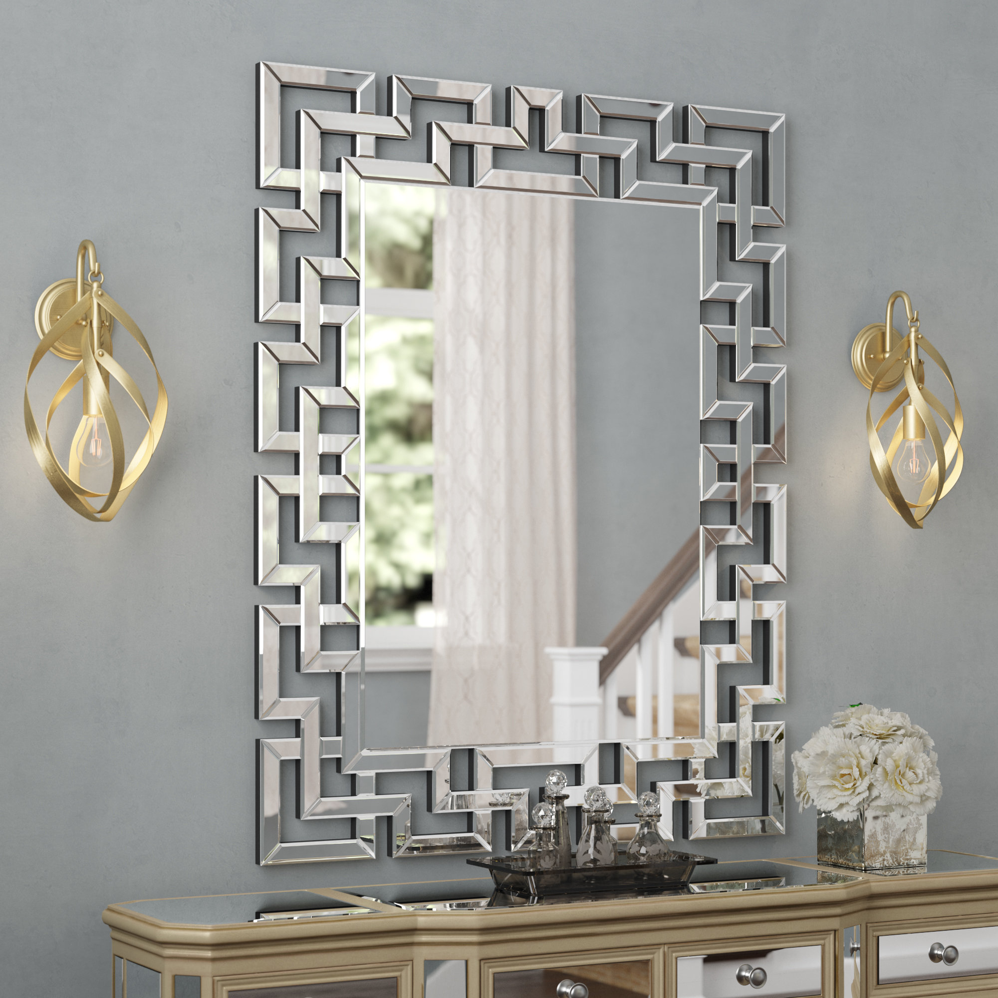 Caja Rectangle Glass Frame Wall Mirror With Regard To Pennsburg Rectangle Wall Mirrors (Image 1 of 20)