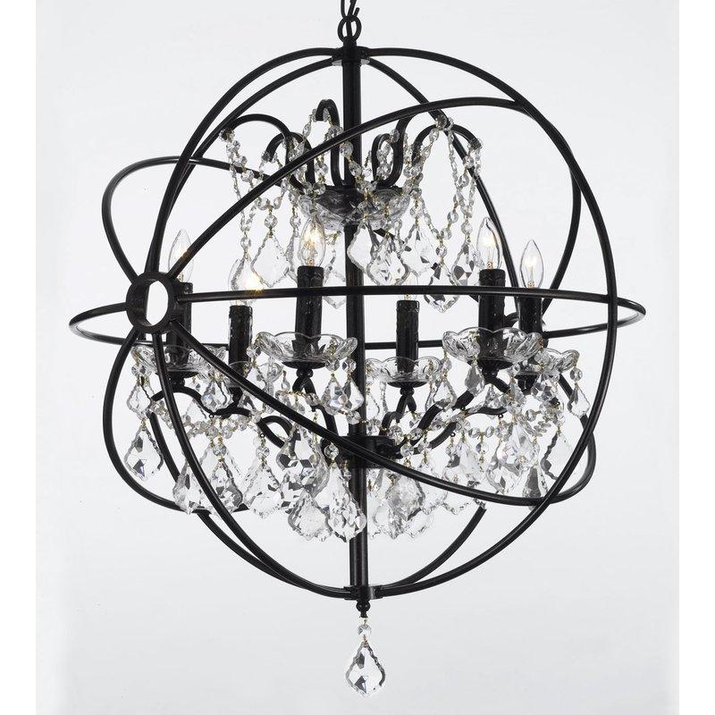 Calderdale Orb 6 Light Globe Chandelier In Joon 6 Light Globe Chandeliers (Image 6 of 20)