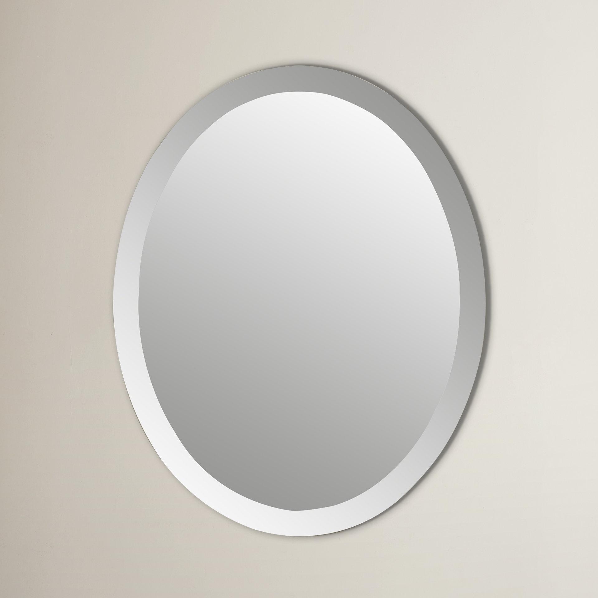 Callison Oval Bevel Frameless Wall Mirror Throughout Logan Frameless Wall Mirrors (View 9 of 20)