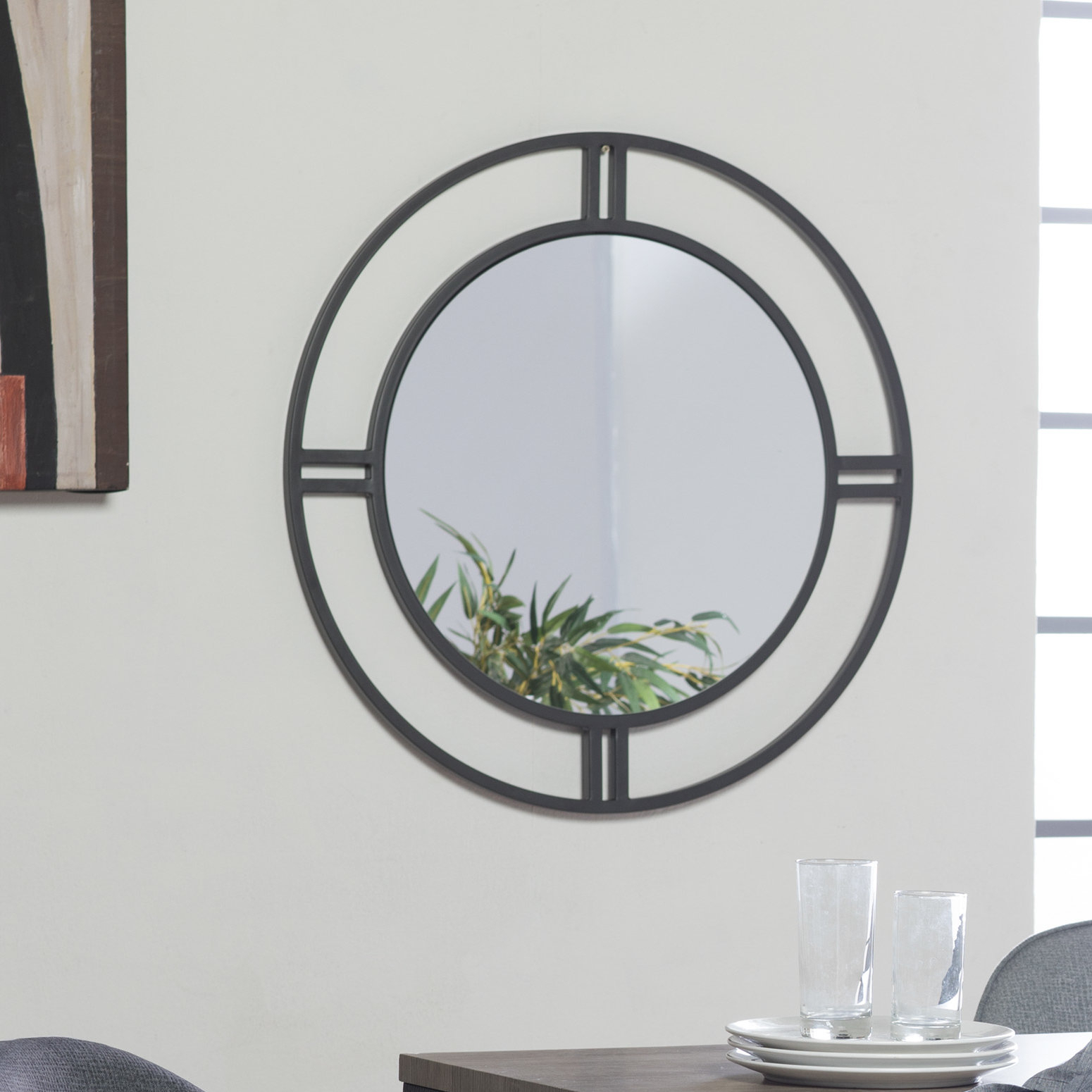 Camber Round Accent Mirror | Joss & Main In Rhein Accent Mirrors (View 12 of 20)