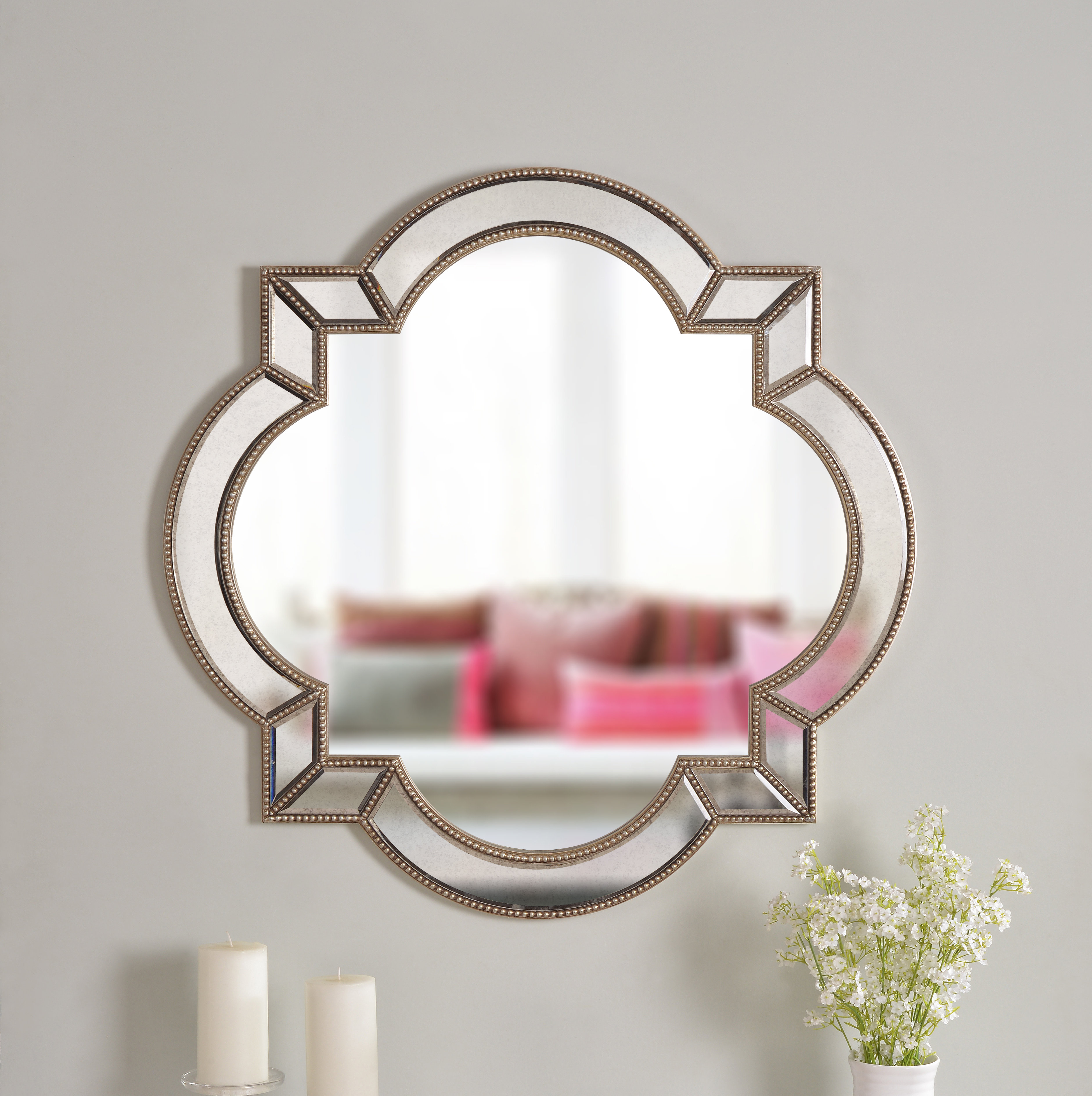 Camilla Accent Mirror With Padang Irregular Wood Framed Wall Mirrors (View 13 of 20)