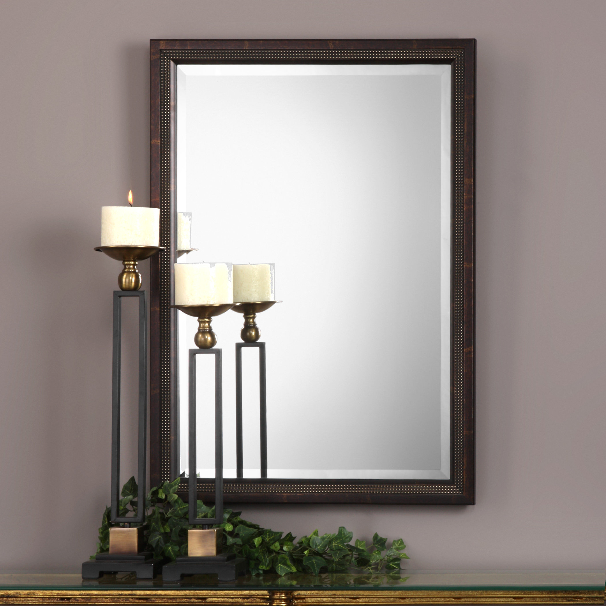 Candelario Triple Beaded Traditional Beveled Accent Mirror Within Traditional Beveled Accent Mirrors (View 5 of 20)