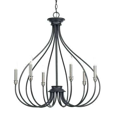Candle Style Chandelier Black Progress Lighting Chandeliers In Armande Candle Style Chandeliers (Image 13 of 20)