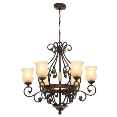 Candle Style – Chandeliers – Lighting – The Home Depot Throughout Hamza 6 Light Candle Style Chandeliers (View 9 of 20)