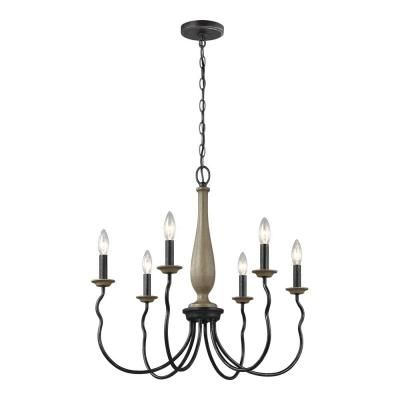 Candle Style – Chandeliers – Lighting – The Home Depot Within Hamza 6 Light Candle Style Chandeliers (View 19 of 20)