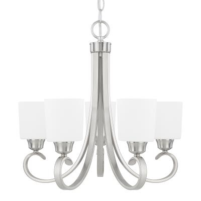 Capital Lighting – 415351Bn 339   Lights Of Oconee Intended For Hayden 5 Light Shaded Chandeliers (Image 3 of 20)