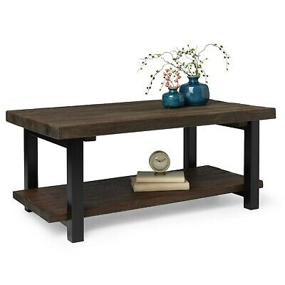 Carbon Loft Lawrence Reclaimed Wood 42 Inch Coffee Table | Ebay Inside Carbon Loft Oliver Modern Rustic Natural Fir Coffee Tables (View 18 of 25)