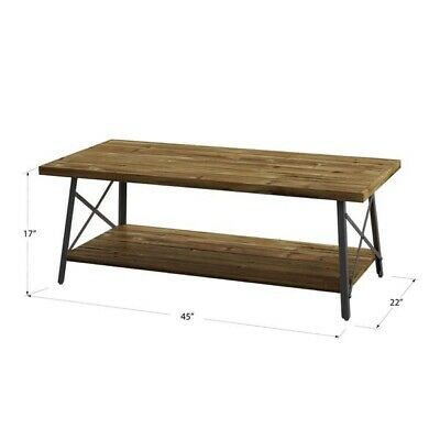 Carbon Loft Oliver Modern Rustic Natural Fir Coffee Table | Ebay Inside Carbon Loft Kenyon Natural Rustic Coffee Tables (Image 10 of 25)