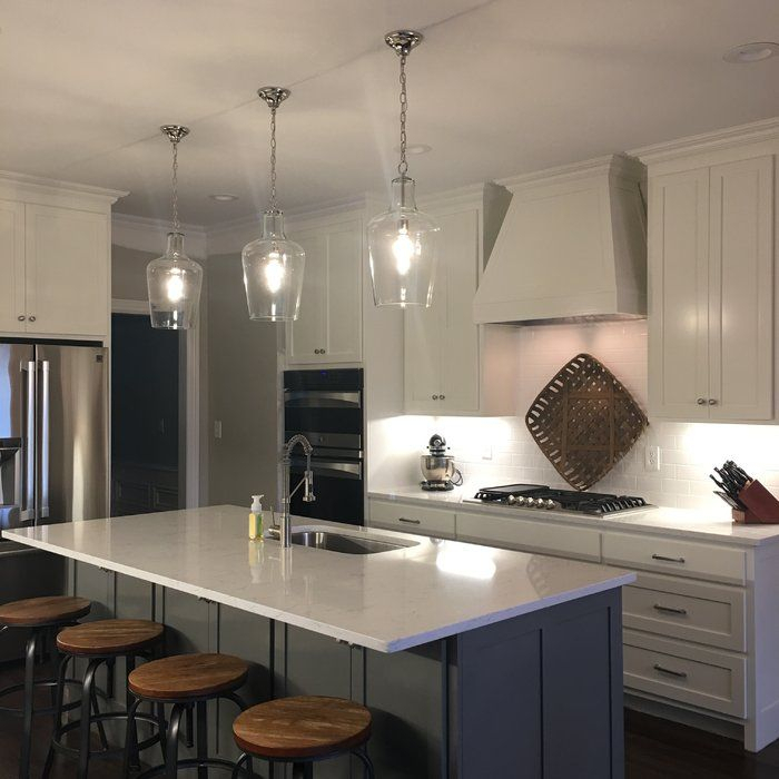 Carey 1 Light Single Bell Pendant In 2019 | Kitchen With Regard To Carey 1 Light Single Bell Pendants (View 10 of 25)