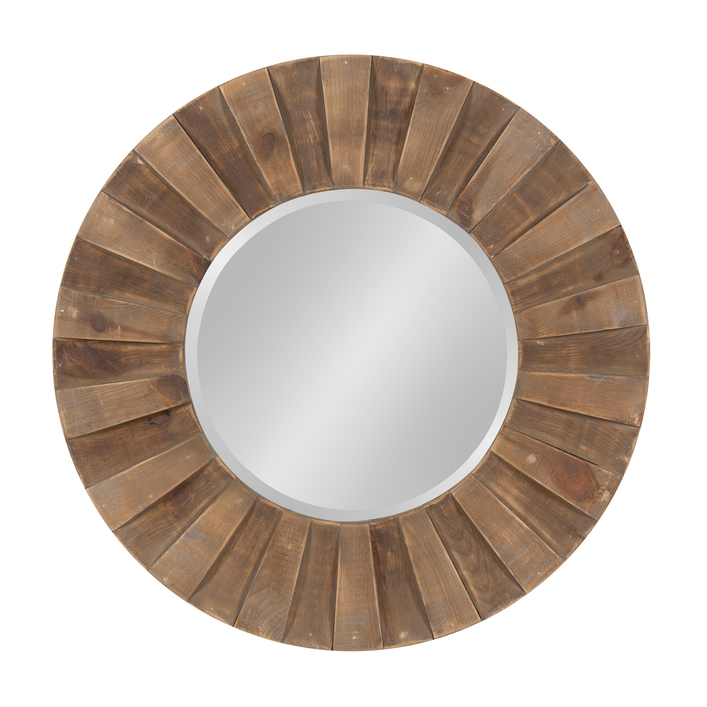 Carla Sunburst Natural Wood Frame Accent Wall Mirror Regarding Perillo Burst Wood Accent Mirrors (Image 4 of 20)