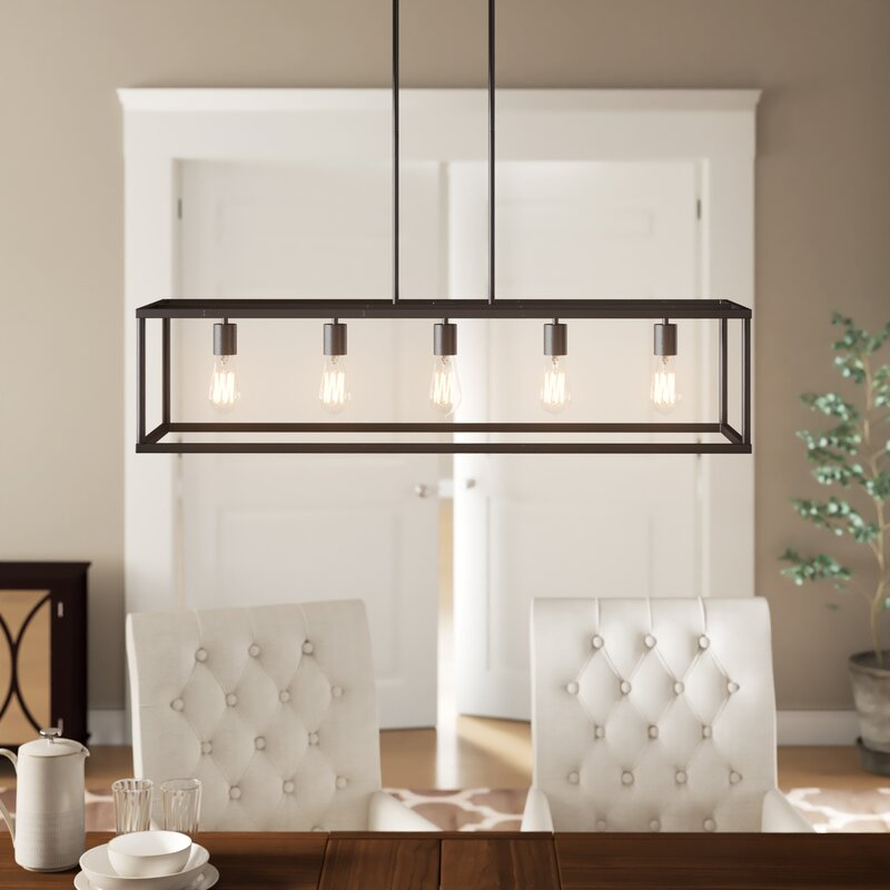 Cassie 5 Light Kitchen Island Linear Pendant For Delon 5 Light Kitchen Island Linear Pendants (Image 4 of 25)