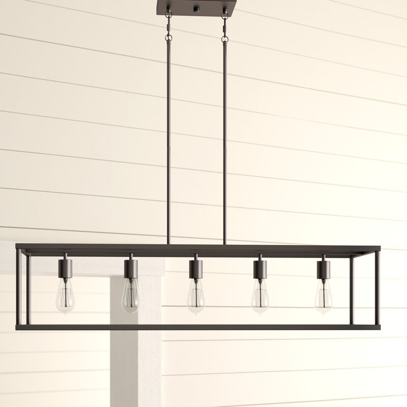 Cassie 5 Light Kitchen Island Linear Pendant With Regard To Bouvet 5 Light Kitchen Island Linear Pendants (View 23 of 25)