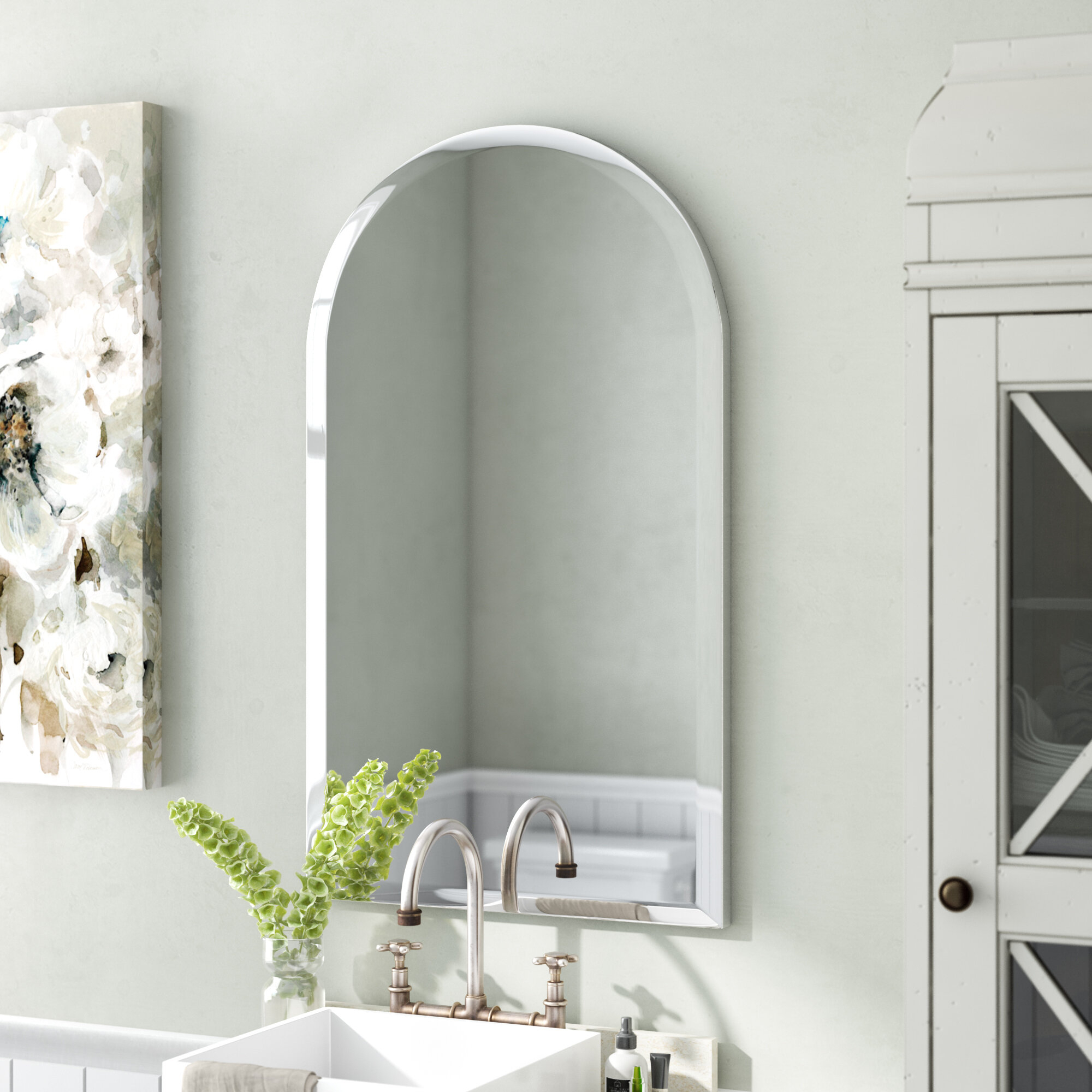 Cathedral Arch Mirror | Wayfair Intended For Fifi Contemporary Arch Wall Mirrors (View 20 of 20)