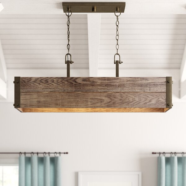 Cathey 4 Light Kitchen Island Linear Pendant Pertaining To Cinchring 4 Light Kitchen Island Linear Pendants (View 20 of 25)
