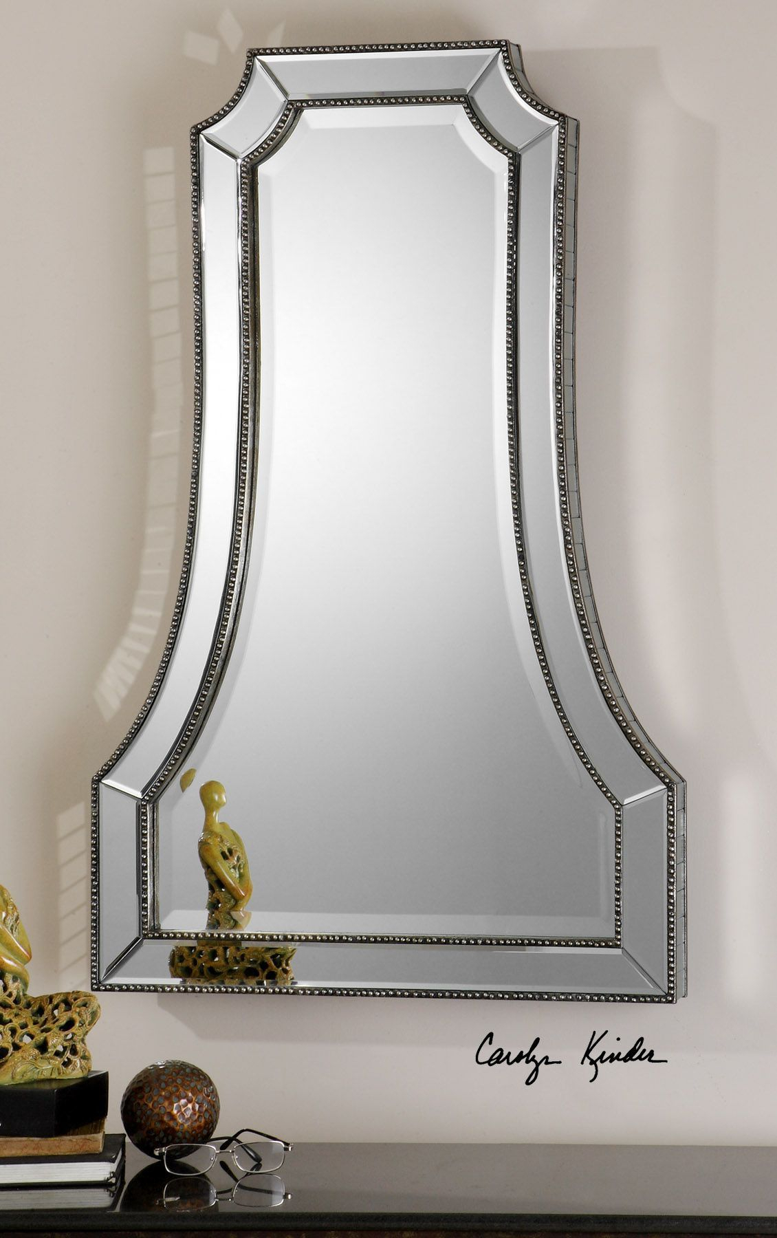 Cattaneo Silver Beaded Mirror | Modern And Contemporary With Menachem Modern & Contemporary Accent Mirrors (View 15 of 20)