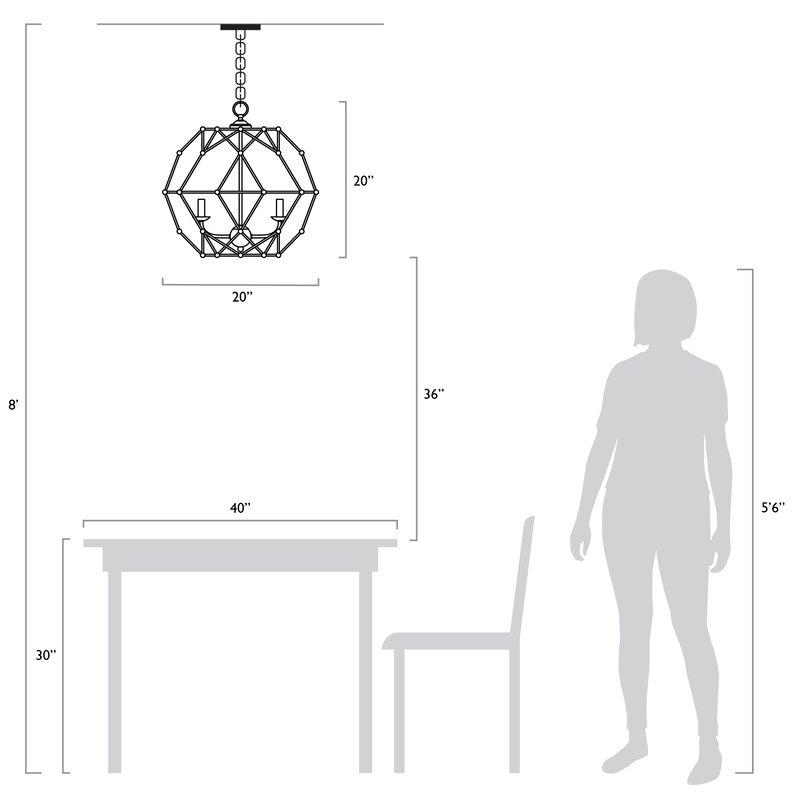 Cavanagh 4 Light Geometric Chandelier For Cavanagh 4 Light Geometric Chandeliers (View 12 of 20)