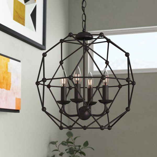 Cavanagh 4 Light Geometric Chandelier | Jeff And Sally Throughout Cavanagh 4 Light Geometric Chandeliers (View 11 of 20)