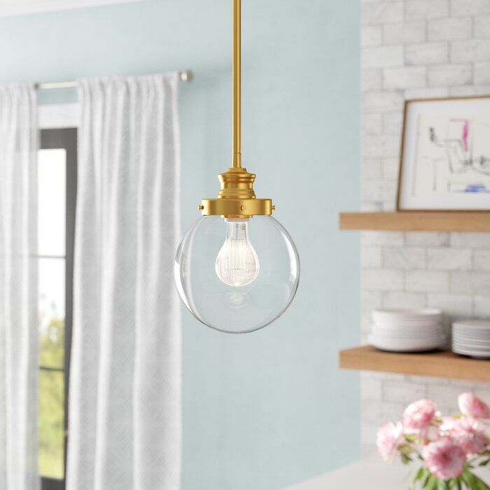 Cayden 1 Light Single Globe Pendant | Home Decor Kitchen In In Bundy 1 Light Single Globe Pendants (View 20 of 25)