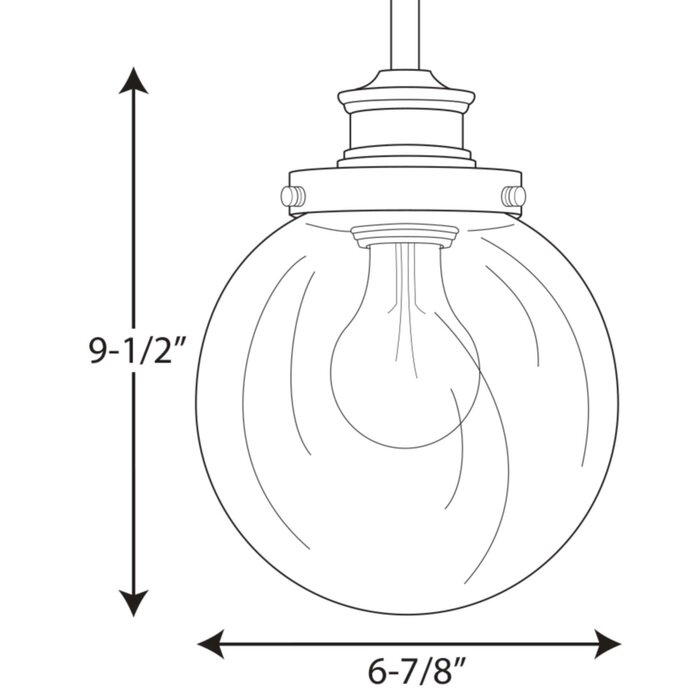 Cayden 1 Light Single Globe Pendant Pertaining To Gehry 1 Light Single Globe Pendants (View 21 of 25)
