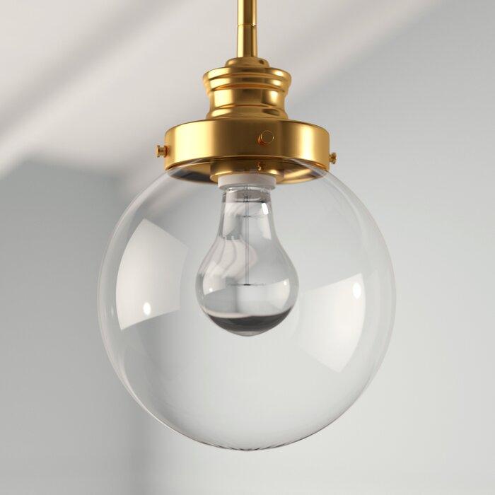Cayden 1 Light Single Globe Pendant With Regard To Gehry 1 Light Single Globe Pendants (View 12 of 25)