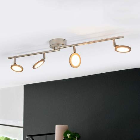 """Ceiling Light """"helina"""" (Modern) In White Made Of Metal (4 Light Sources,  A+) From Lampenwelt With Regard To Helina 1 Light Pendants (Image 4 of 25)"""