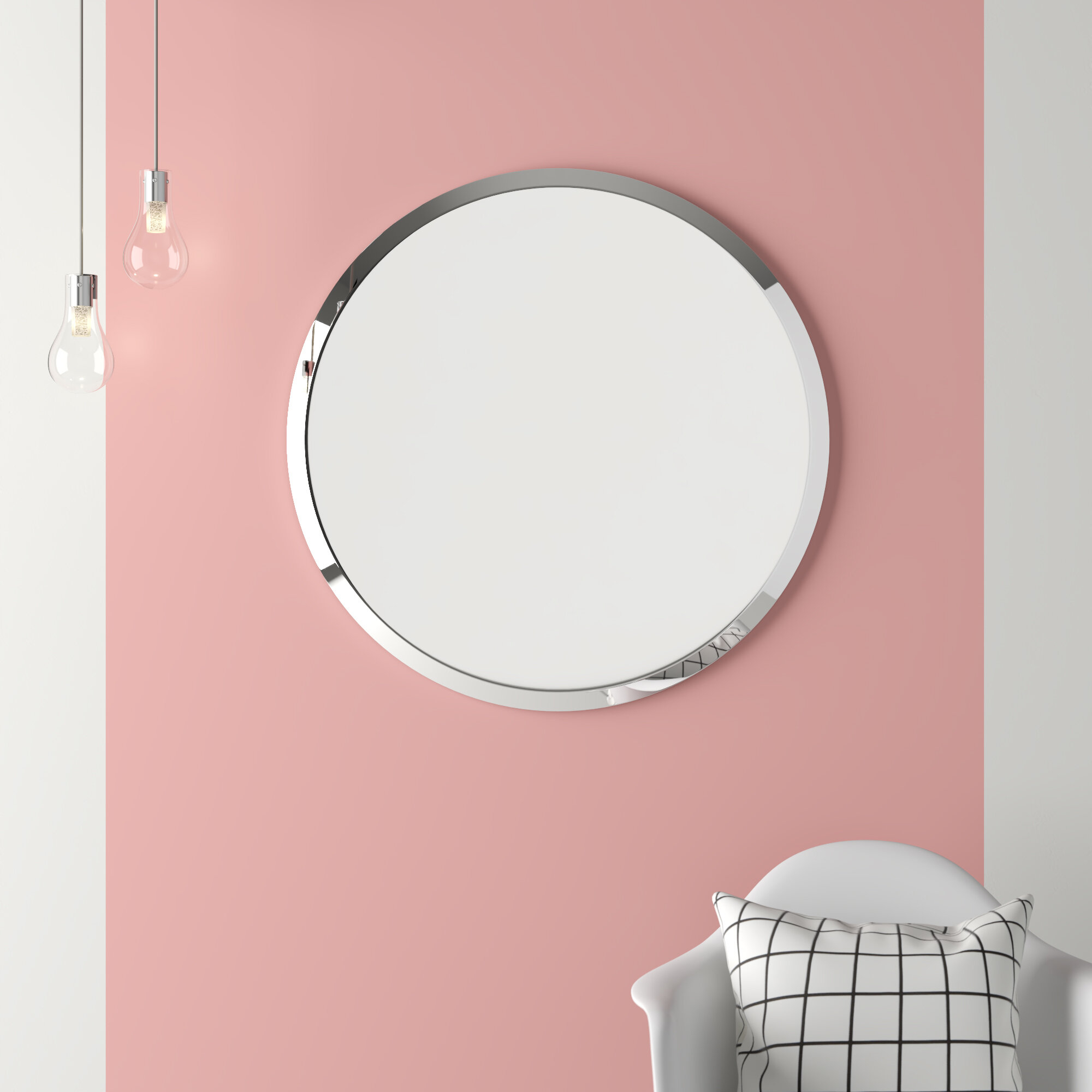 Featured Image of Celeste Frameless Round Wall Mirrors