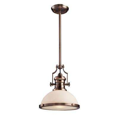 Chadwick 1 Light Antique Copper Ceiling Mount Pendant Pertaining To Akash Industrial Vintage 1 Light Geometric Pendants (Image 10 of 25)