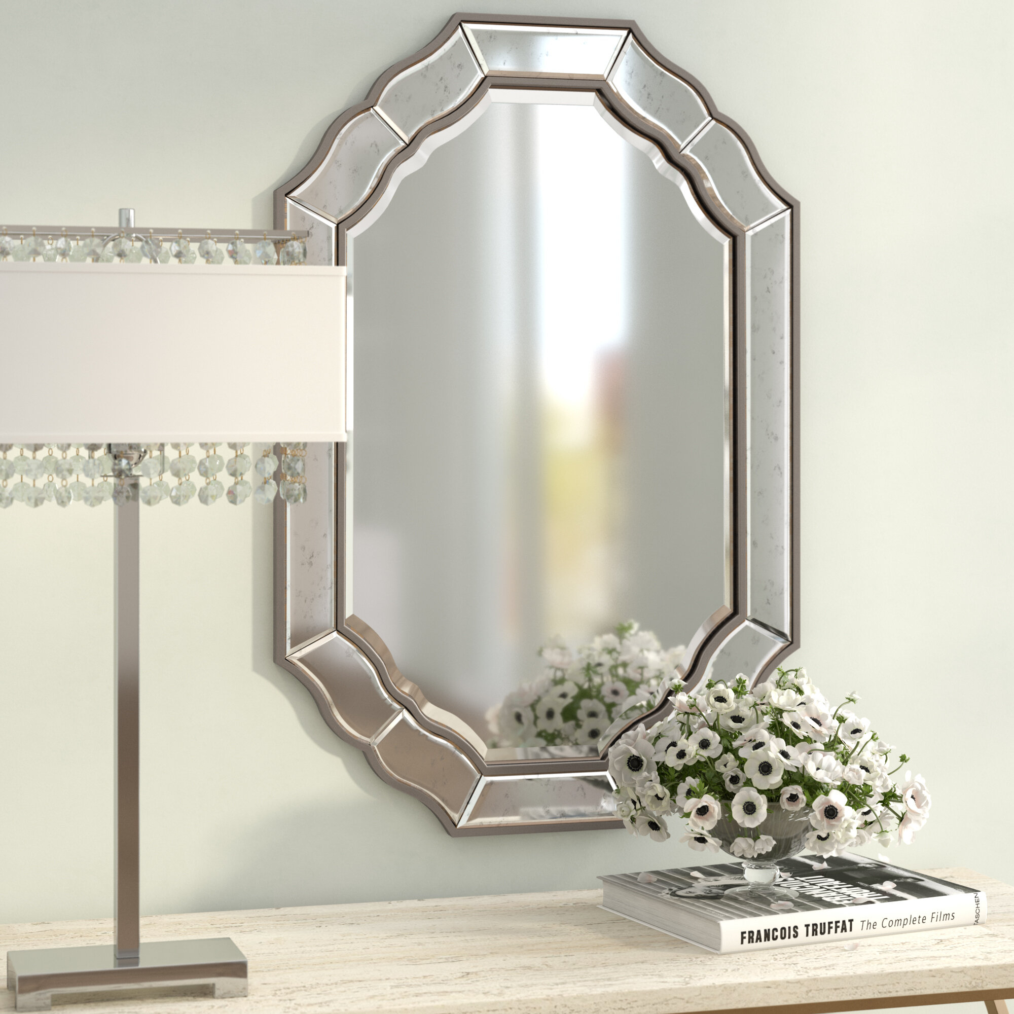 Champagne Mirror | Wayfair Pertaining To Moseley Accent Mirrors (View 9 of 20)