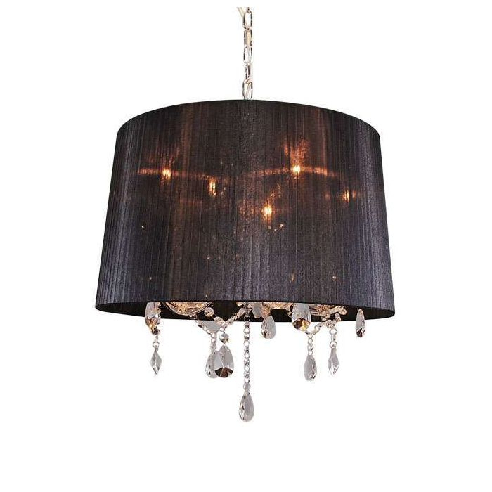 Chandelier Marie Theresa 5 With Black Organza Shade In Thresa 5 Light Shaded Chandeliers (View 5 of 20)