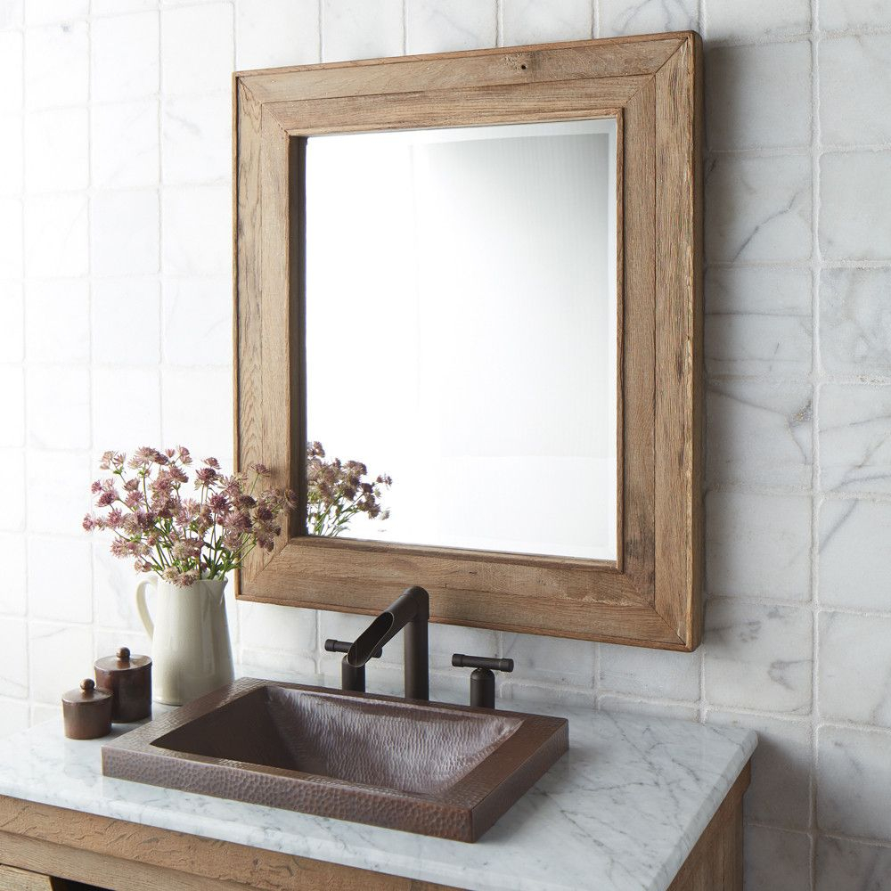 Chardonnay Mirror | Home | Wood Mirror Bathroom, Wooden Within Landover Rustic Distressed Bathroom/vanity Mirrors (View 18 of 20)