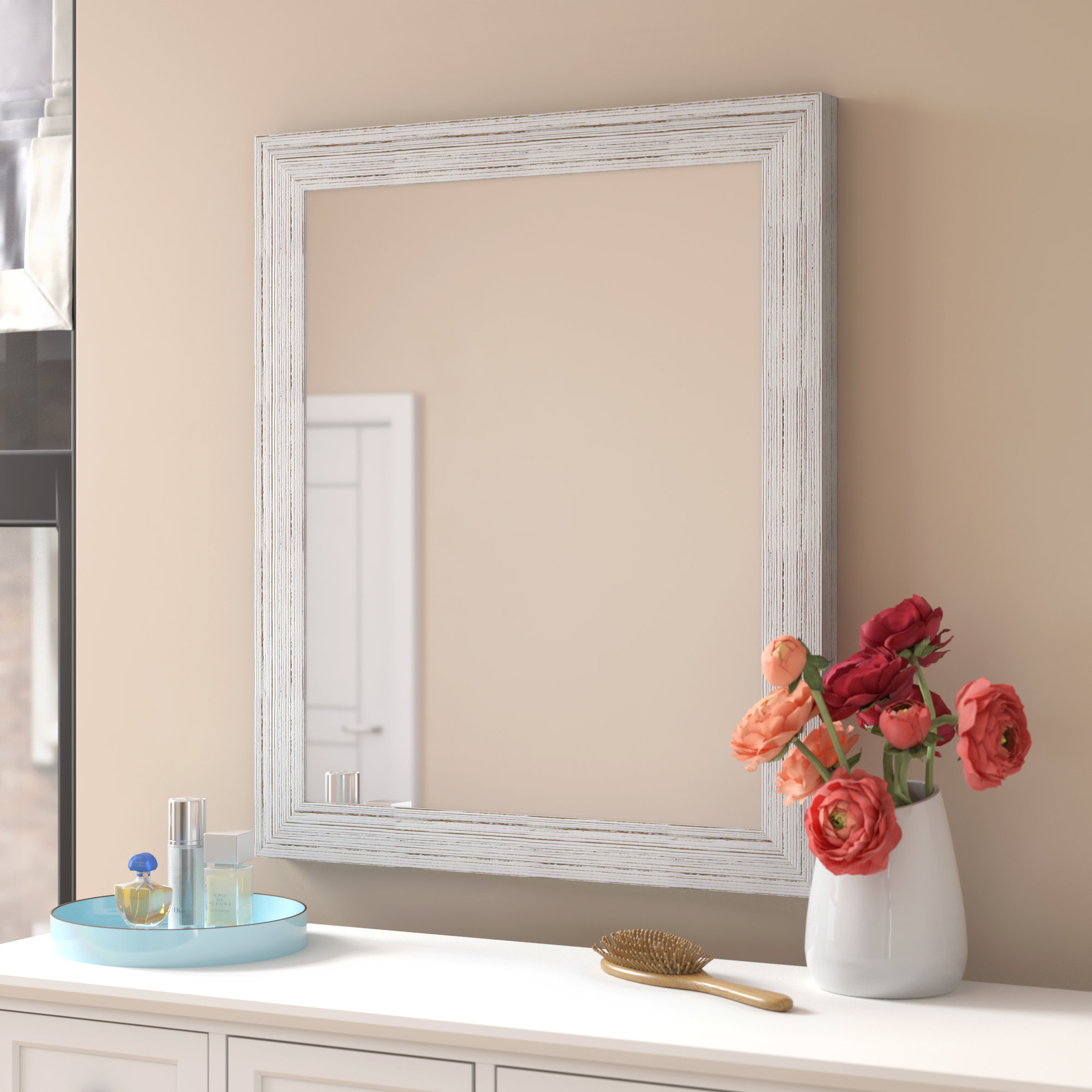 Charlton Home Kimzey Bathroom/vanity Mirror Pertaining To Burgoyne Vanity Mirrors (View 12 of 20)