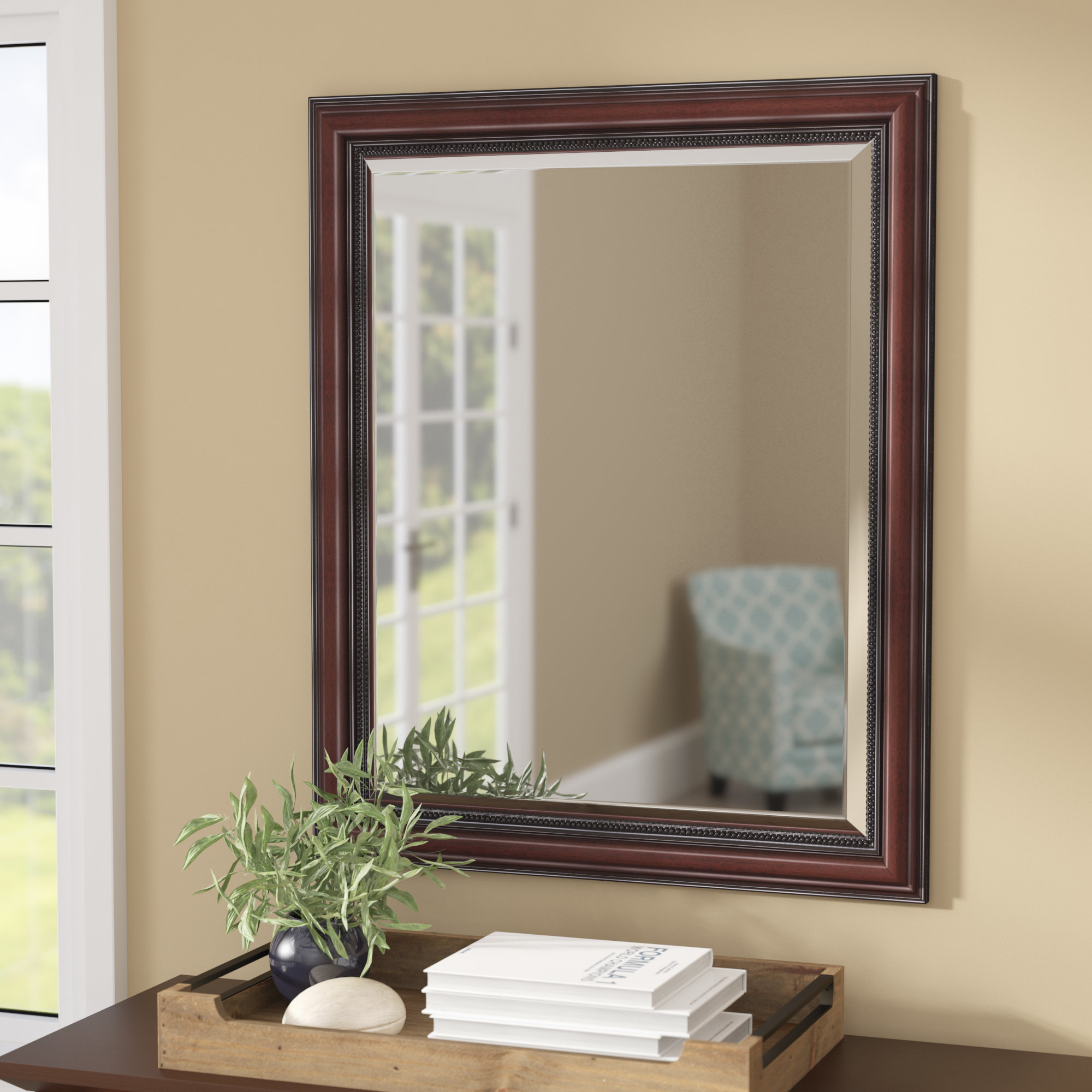Charlton Home Verret Traditional Inner Beaded Bathroom For Beaded Accent Wall Mirrors (View 17 of 20)