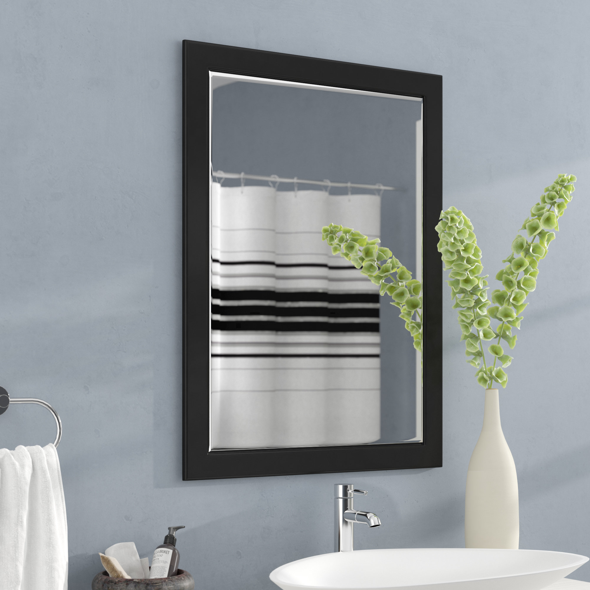 Chelwood Modern Wall Mirror Pertaining To Tetbury Frameless Tri Bevel Wall Mirrors (View 13 of 20)