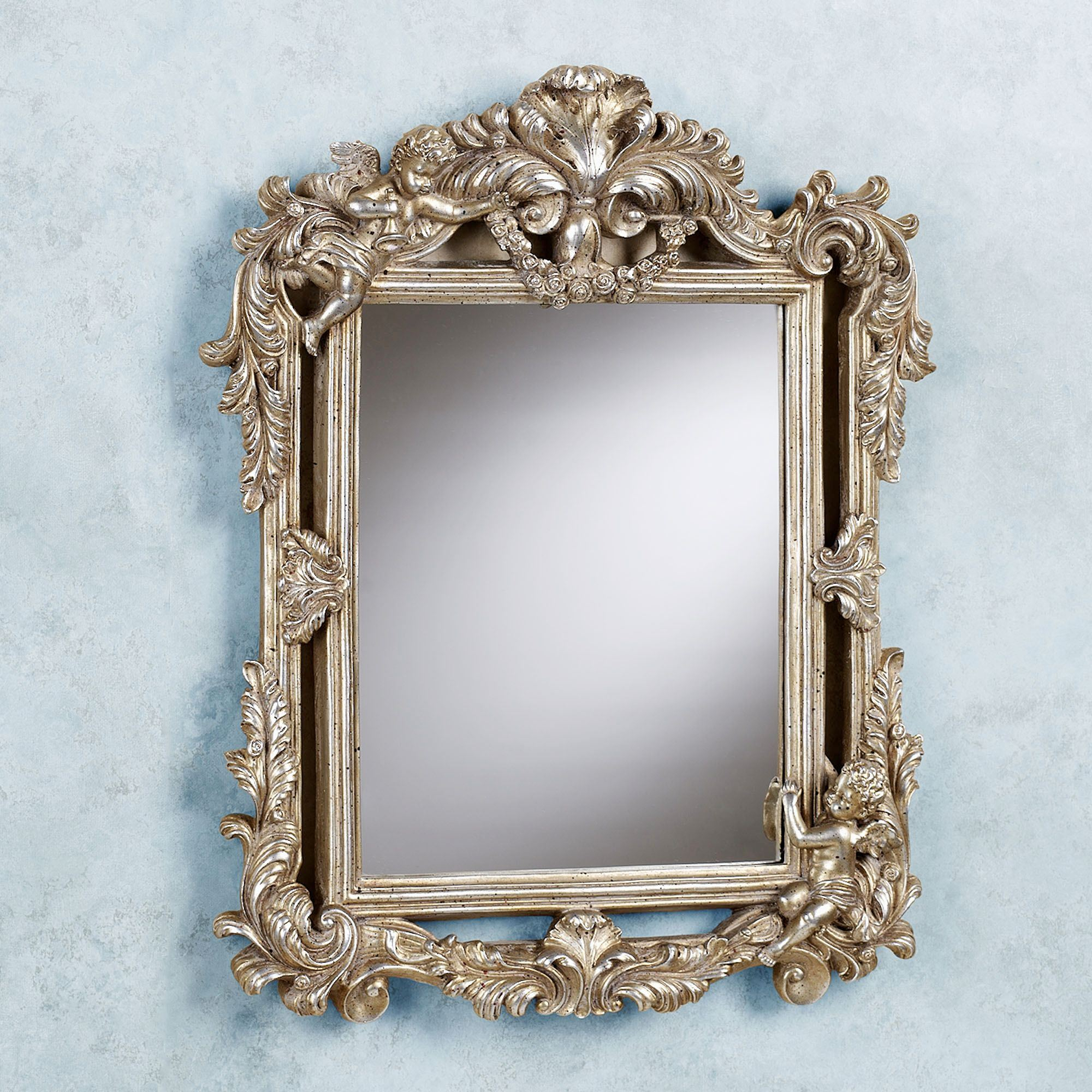 Cherub Double Framed Accent Wall Mirror With Regard To Accent Mirrors (Image 13 of 20)