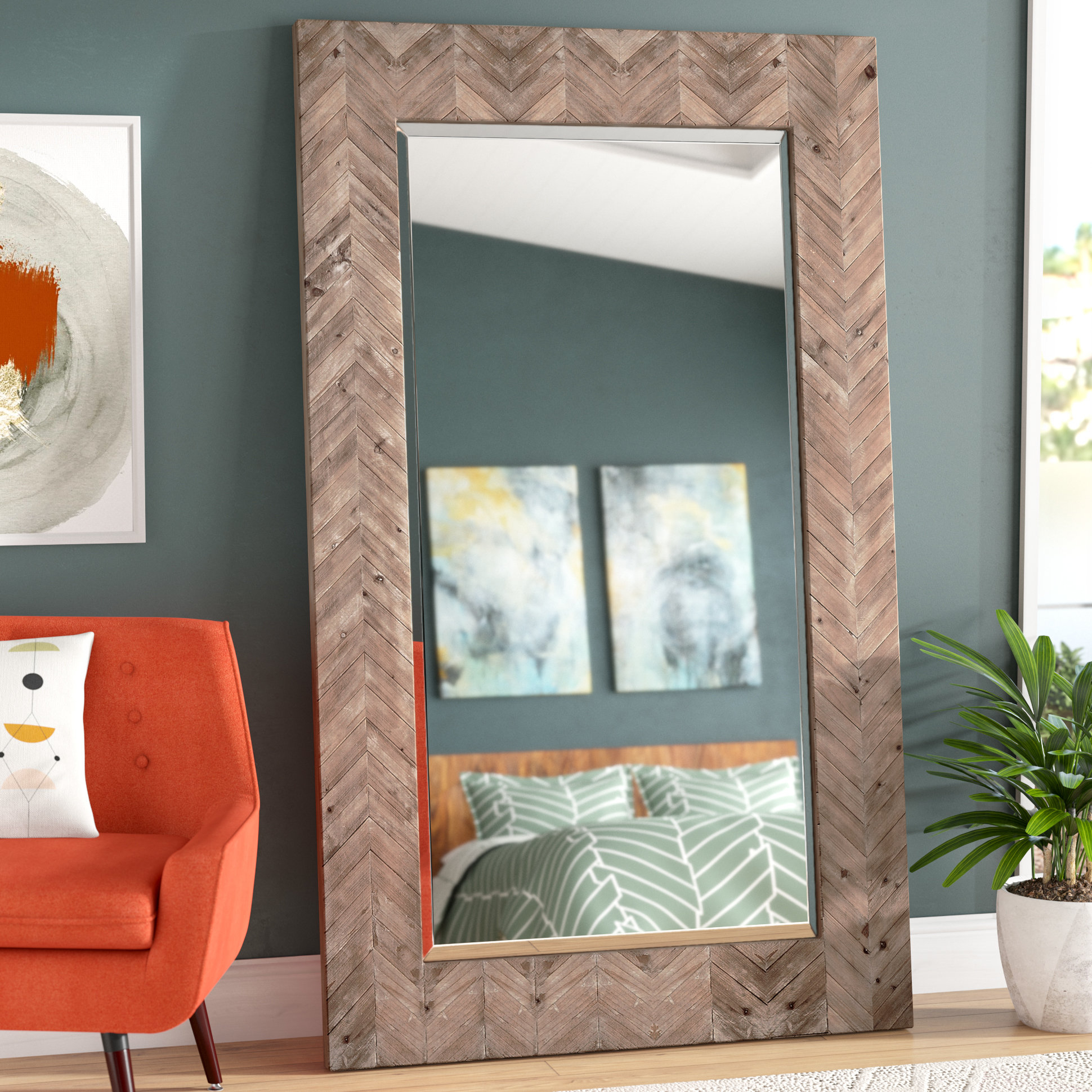 Chevron Accent Mirror For Rena Accent Mirrors (View 14 of 20)