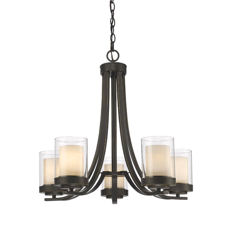 Cheyne 5 Light Shaded Chandelier With Regard To Crofoot 5 Light Shaded Chandeliers (View 8 of 20)