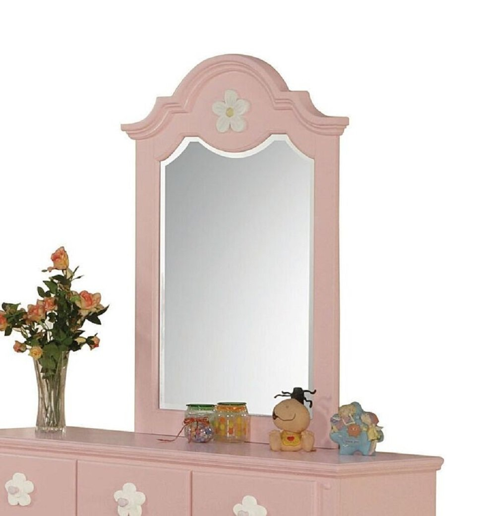 Choe Flower Accent Mirror In Dariel Tall Arched Scalloped Wall Mirrors (Image 6 of 20)