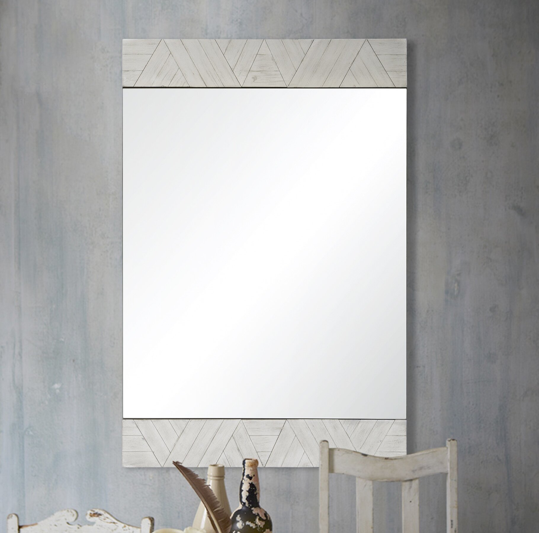 Chokio Rustic Accent Mirror Intended For Rena Accent Mirrors (Image 5 of 20)