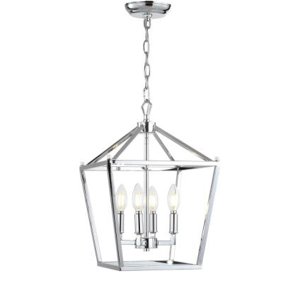 Chrome – Hardware Included – Farmhouse – Chandeliers With Gabriella 3 Light Lantern Chandeliers (View 16 of 20)