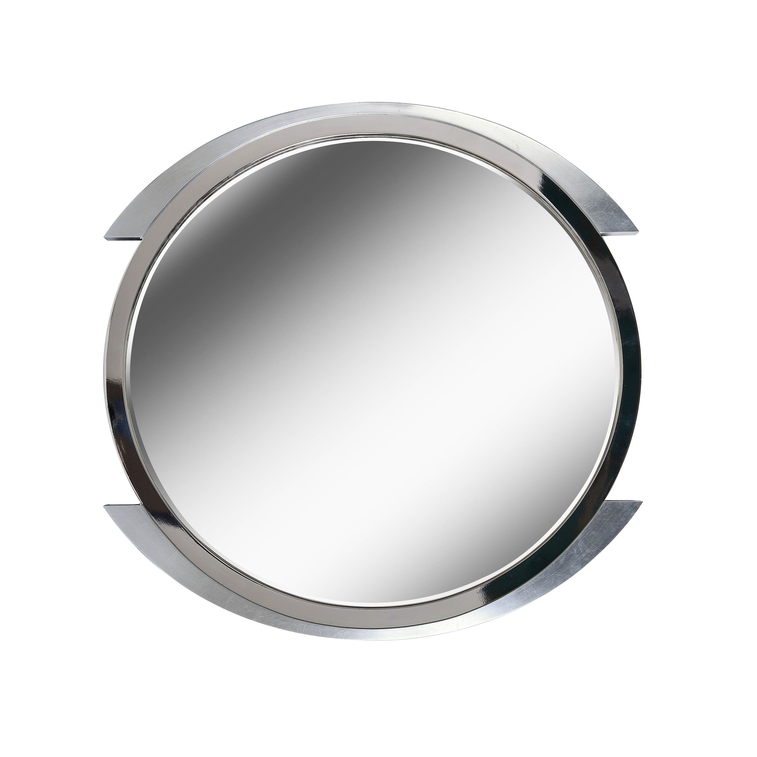 "Chromium 36"" Brushed Steel Wall Mirror In Swagger Accent Wall Mirrors (View 14 of 20)"