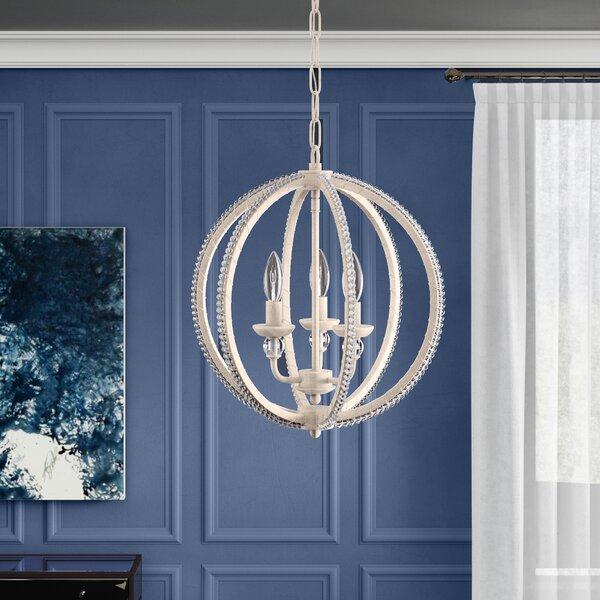 Clarice 3 Light Globe Chandelier Throughout Alden 3 Light Single Globe Pendants (View 16 of 20)