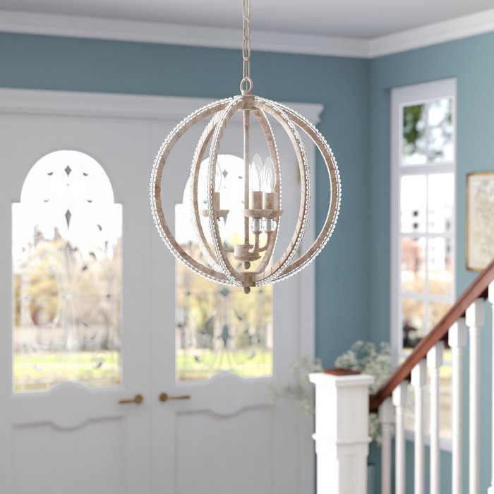 Clarice 3 Light Led Candle Style Mini Chandelier | Joss & Main With Berger 5 Light Candle Style Chandeliers (View 14 of 20)