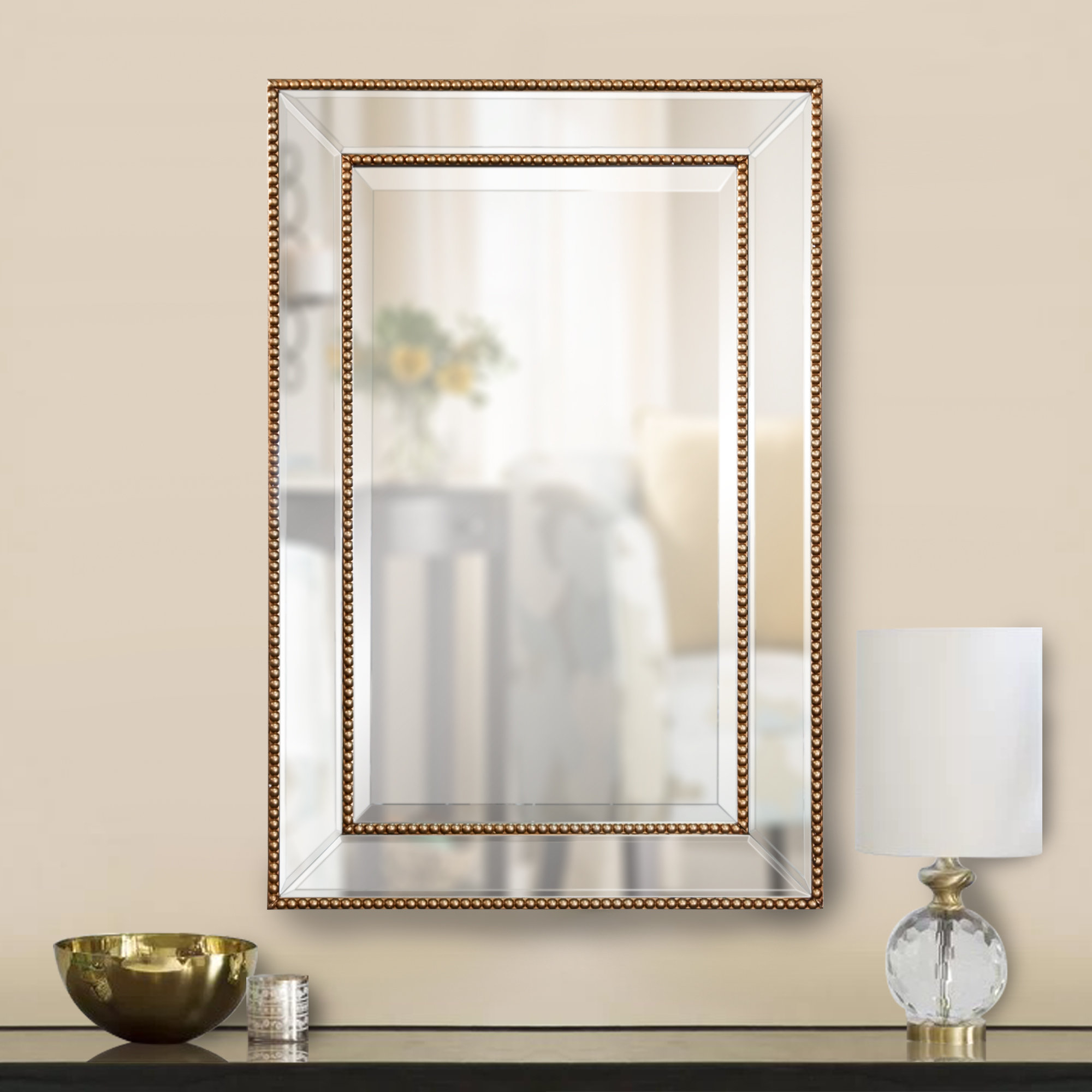 Clarine Beaded Wall Mirror Inside Lake Park Beveled Beaded Accent Wall Mirrors (View 3 of 20)