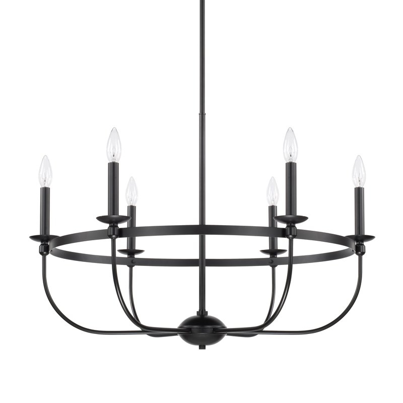 Claughaun 6 Light Candle Style Chandelier Regarding Perseus 6 Light Candle Style Chandeliers (View 8 of 20)