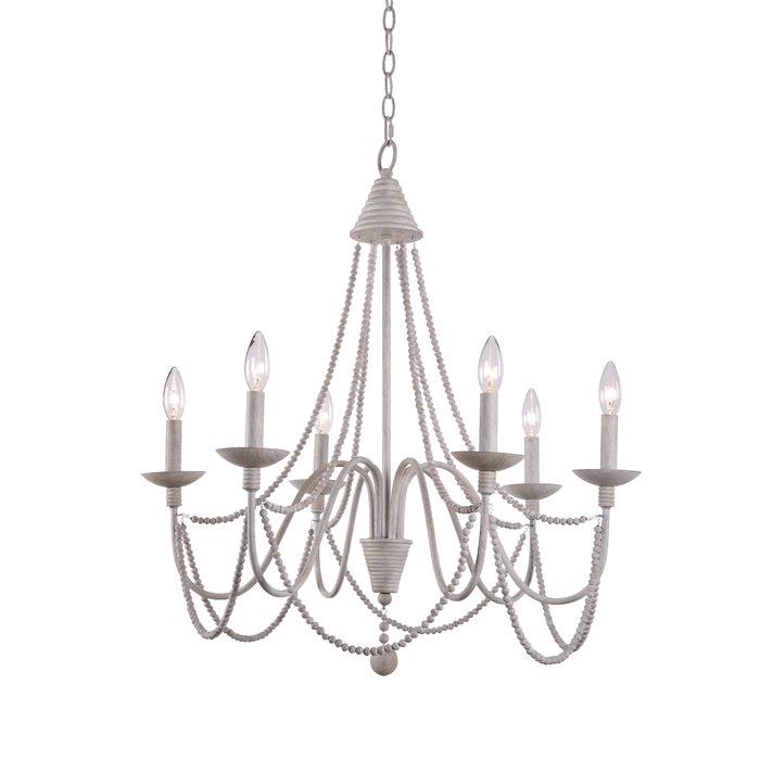 Clayburn 6 Light Candle Style Chandelier Throughout Bouchette Traditional 6 Light Candle Style Chandeliers (View 9 of 20)