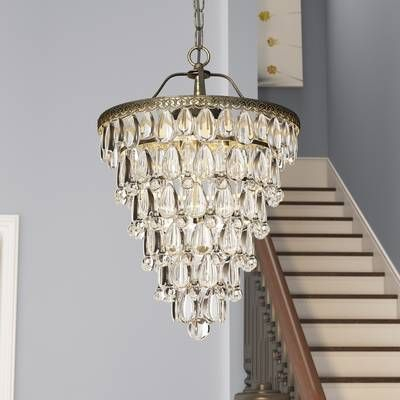 Clea 3 Light Crystal Chandelier | Lighting In 2019 With Clea 3 Light Crystal Chandeliers (Image 10 of 20)