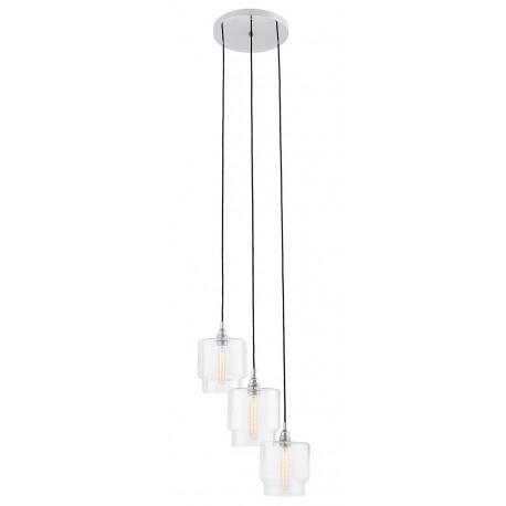 Clea 3 Plafond Pendant Lamp Transparent – Kolorowekable (View 17 of 20)
