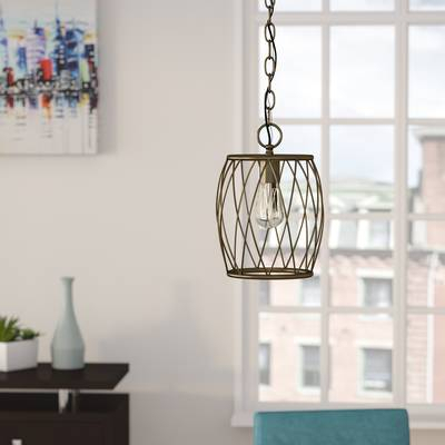Cleo 1 Light Lantern Pendant & Reviews | Birch Lane Inside Poynter 1 Light Single Cylinder Pendants (View 8 of 25)