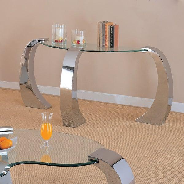 Coaster Company Silver Sofa Table Inside Coaster Company Silver Glass Coffee Tables (Image 11 of 25)