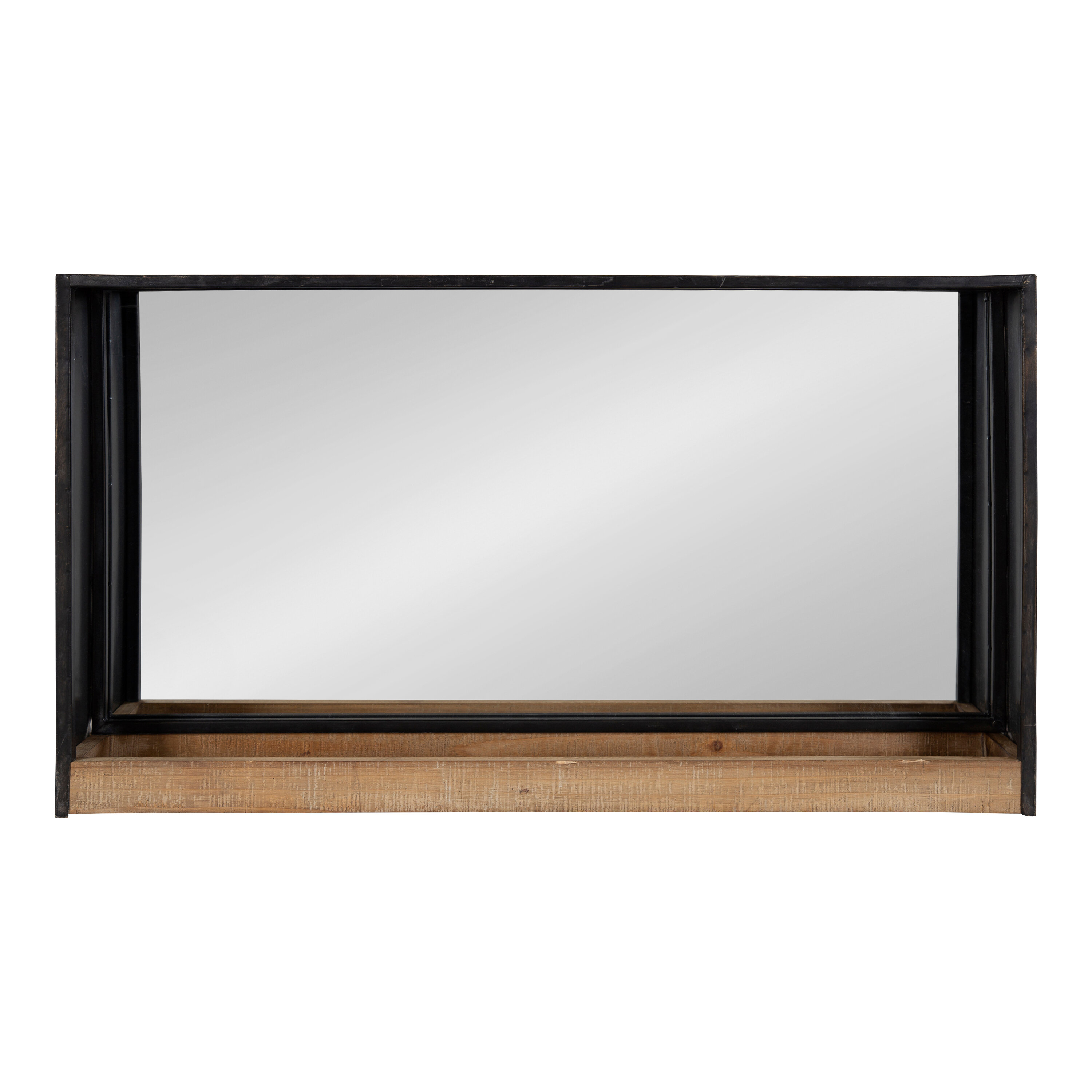 Coelho Casual Modern Beveled With Shelf Accent Mirror Throughout Northcutt Accent Mirrors (Image 3 of 20)